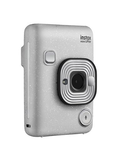 Fujifilm Instax mini LiPlay Hybrid Stone White Fotoğraf Makinesi Çantalı Hediye Seti 3 Beyaz